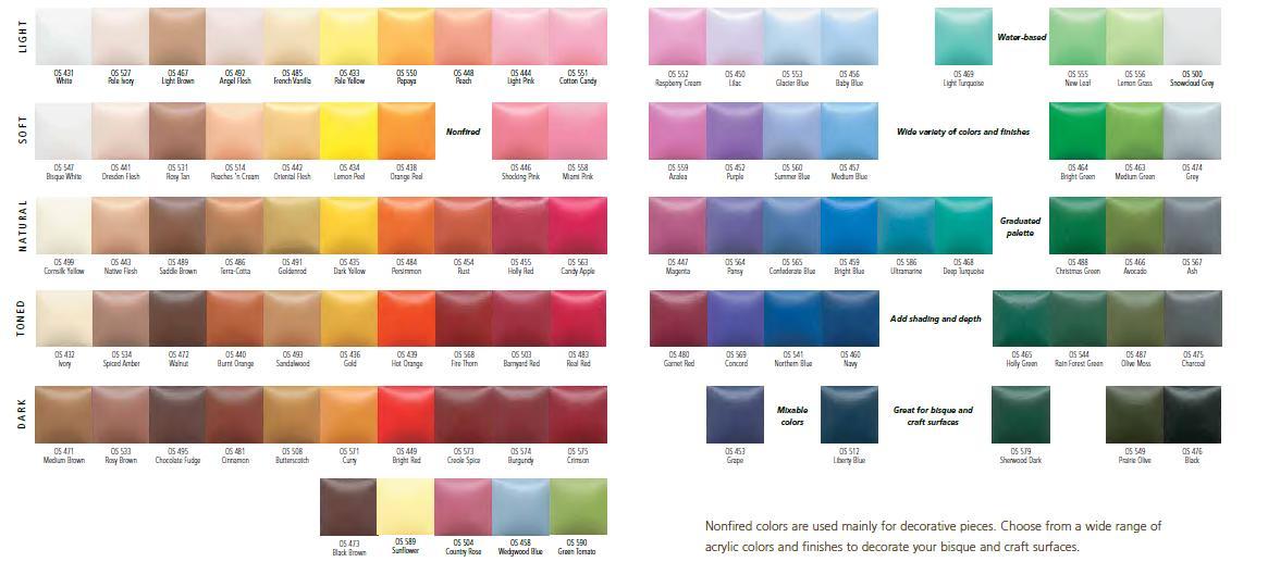 Voor al uw keramiek produkten kleuren niet gestookt verf - Verf kleur keuzes voor zitplaatsen ...